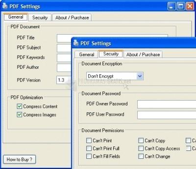 Pantallazo ALL2PDF PDF Creator