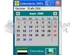 Pantallazo Calendario España 2006