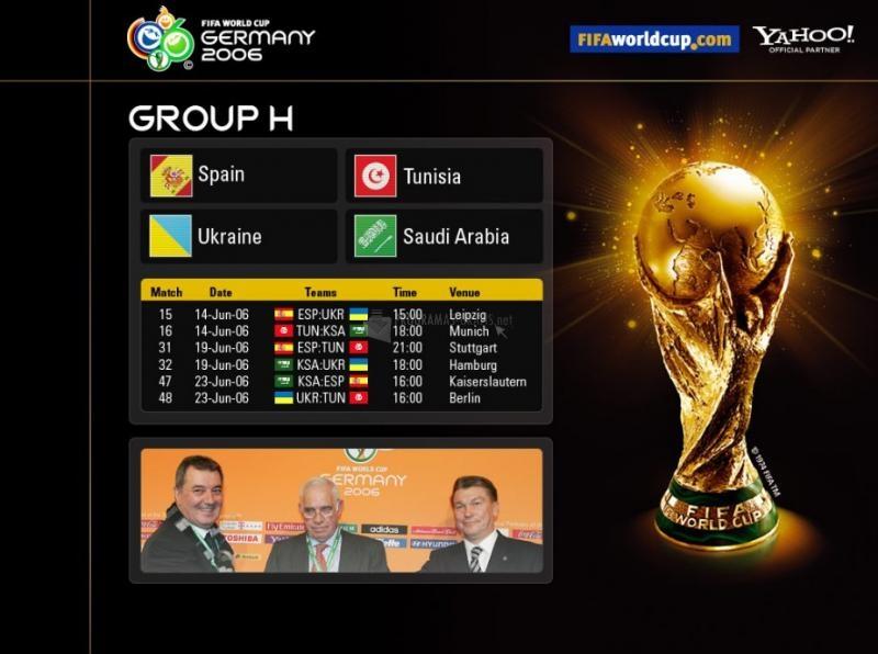Pantallazo Fondo Mundial Alemania 2006 - Grupo H
