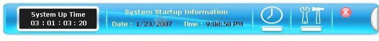Pantallazo System Up Time Monitor
