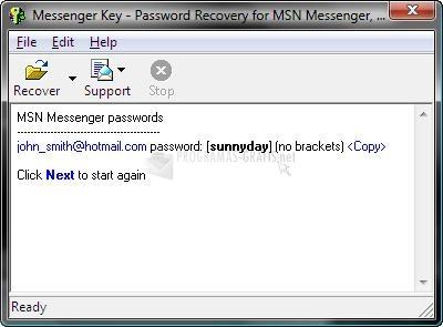 Pantallazo Messenger Key