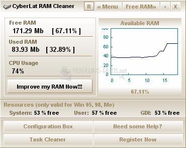 Pantallazo CyberLat RAM Cleaner
