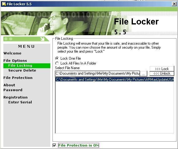 Pantallazo File Locker