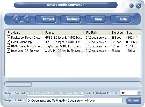 Pantallazo Smart Audio Converter