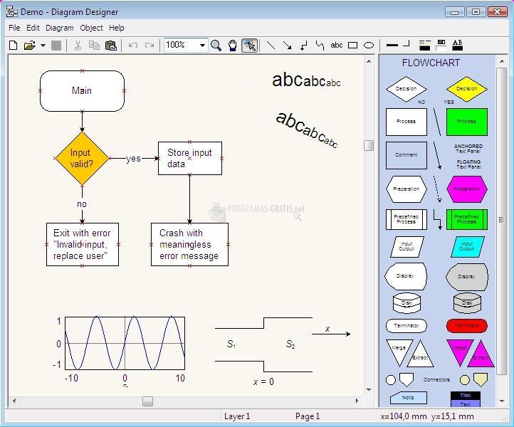 Pantallazo Diagram Designer