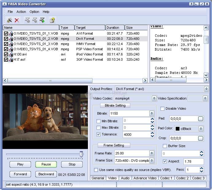 Pantallazo Yasa Video Converter