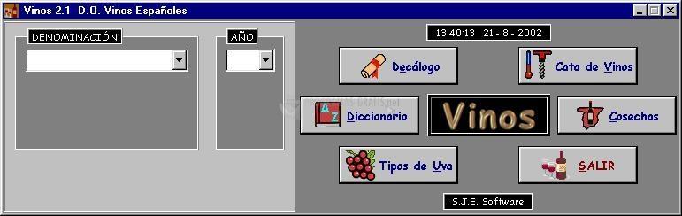 Pantallazo Vinos