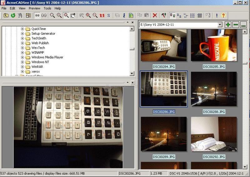 Screenshot ACME CADSee