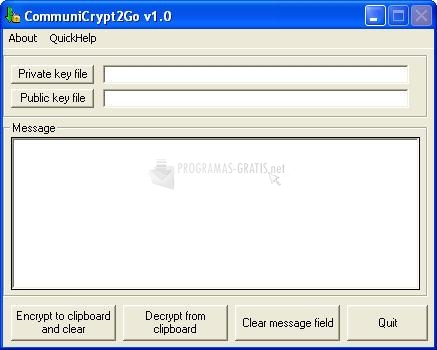 Pantallazo Communi Crypt2Go