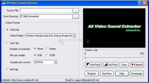 Pantallazo All Video Sound Extractor