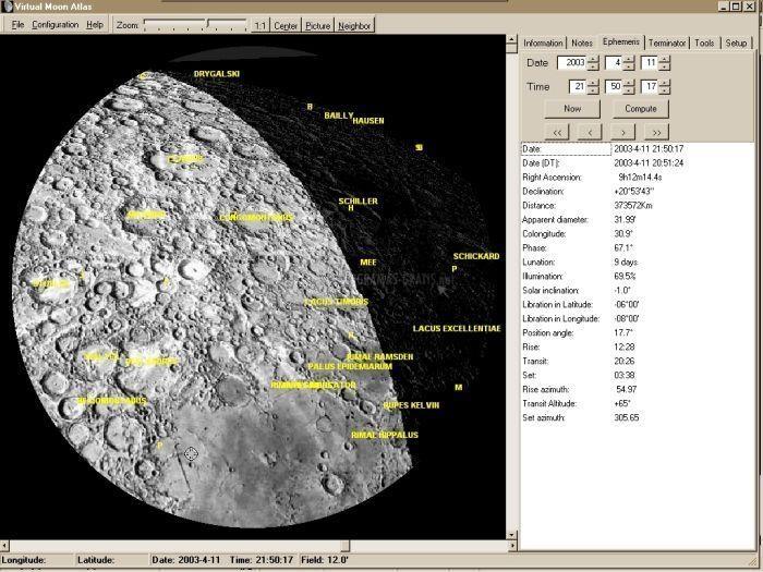Pantallazo Virtual Moon Atlas Expert