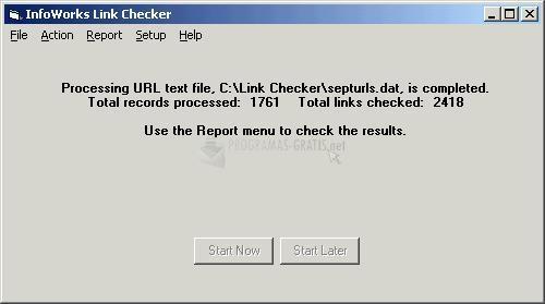 Pantallazo InfoWorks Link Checker