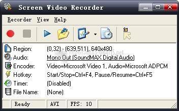 Pantallazo Screen Video Recorder