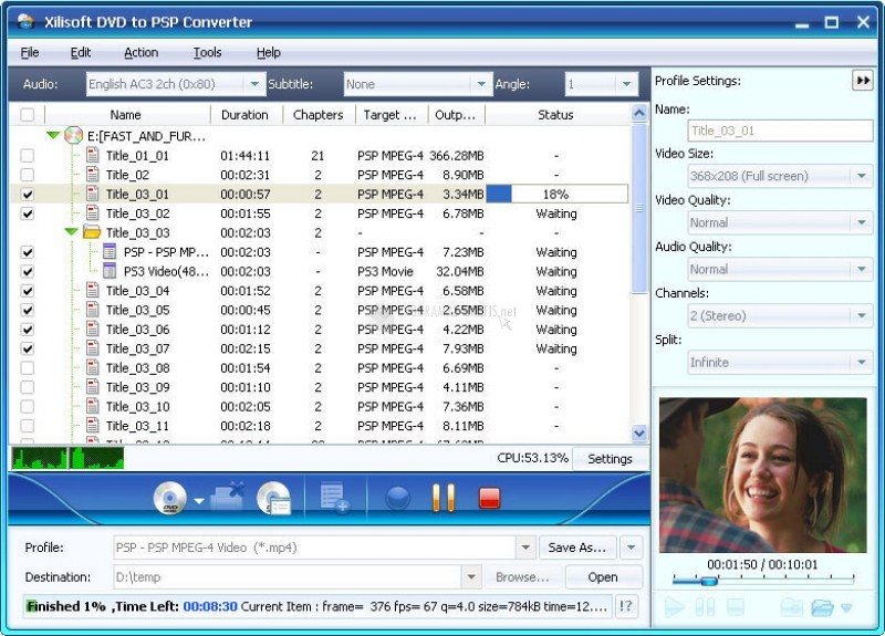 Foto Xilisoft DVD to PSP Suite