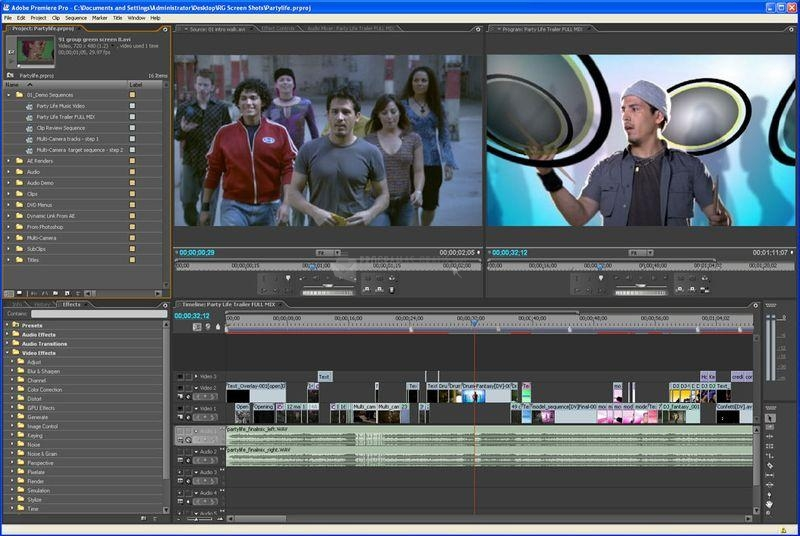 Pantallazo Adobe Premiere Pro