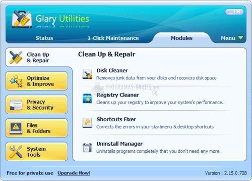 Pantallazo Glary Utilities