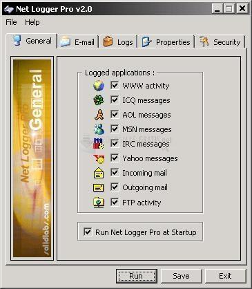 Pantallazo Net Logger Pro