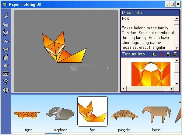 Pantallazo Paper Folding 3D