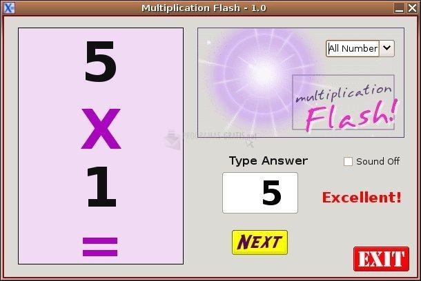 Pantallazo Multiplicacion Flash