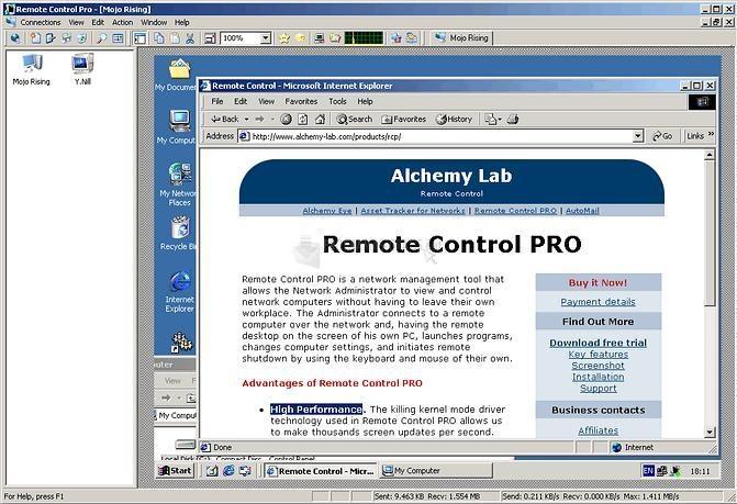 Pantallazo Remote Control Pro