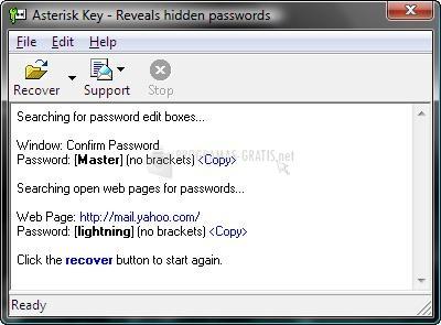 Pantallazo Asterisk Key