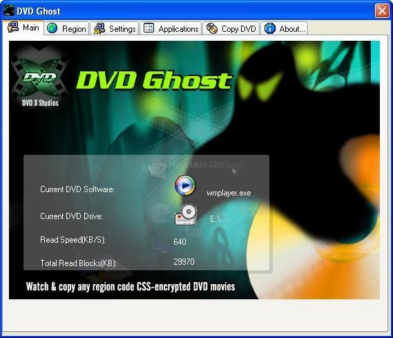 Pantallazo DVD Ghost