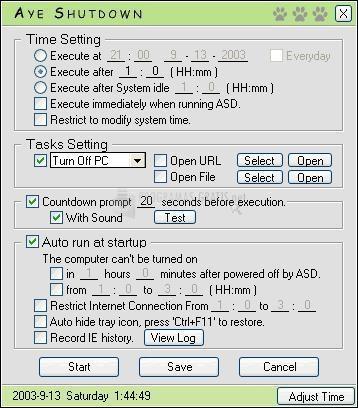 Pantallazo AYE Time Switch Pro