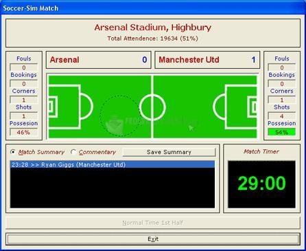 Pantallazo Soccer Sim