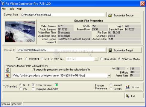 Pantallazo Fx Video Converter Pro