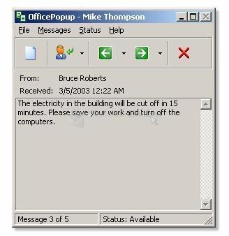 Pantallazo OfficePopup