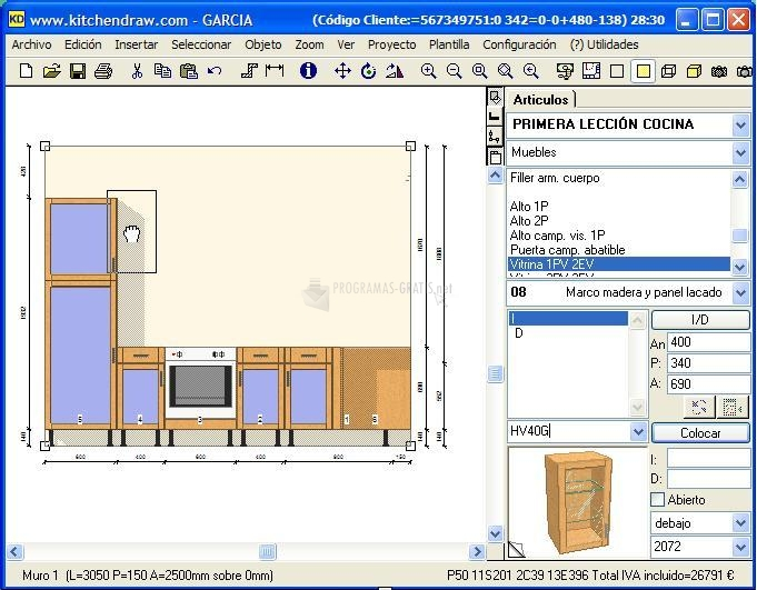 Descargar kitchen draw 6 5 gratis para windows for Programa para hacer cocinas integrales gratis