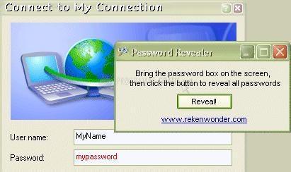 Pantallazo Password Revealer
