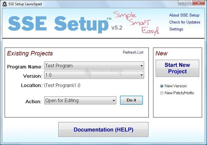 Pantallazo SSE Setup