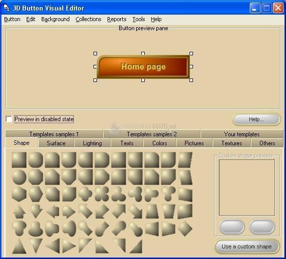 Pantallazo 3D Button Visual Editor