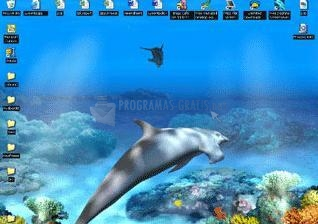 Pantallazo Living 3D Dolphins Wallpaper