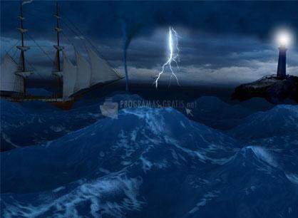 Pantallazo Free Lightning 3D Storm ScreenSaver