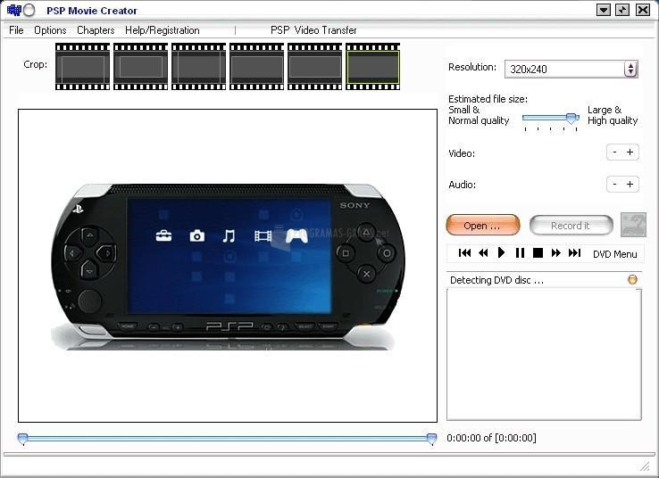 Pantallazo PSP Movie Creator