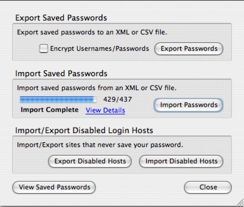 Pantallazo Password Exporter