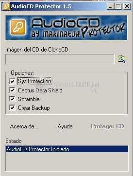 Pantallazo Audio CD Protector