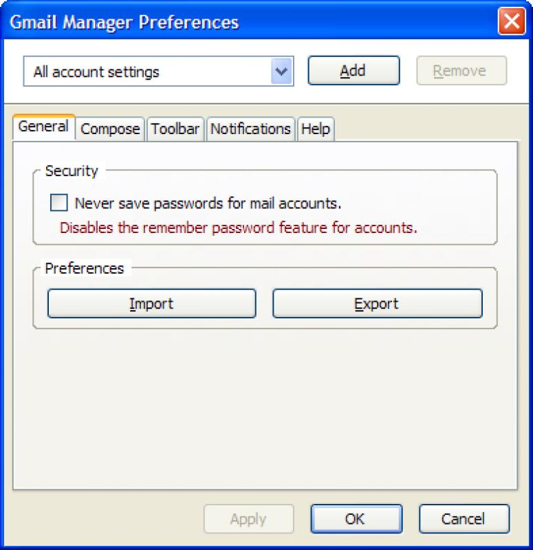 Pantallazo Gmail Manager