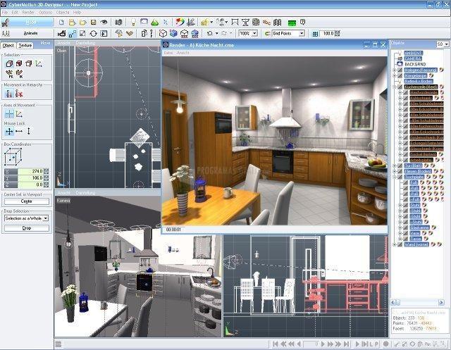 Pantallazo CyberMotion 3D-Designer