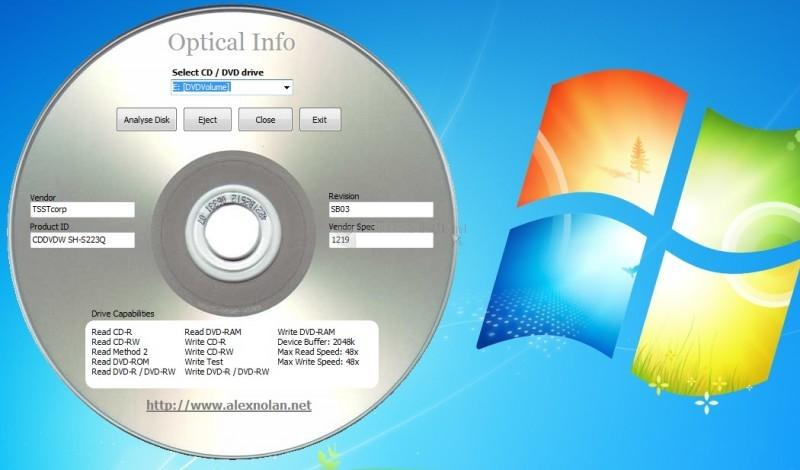 Pantallazo Optical Info