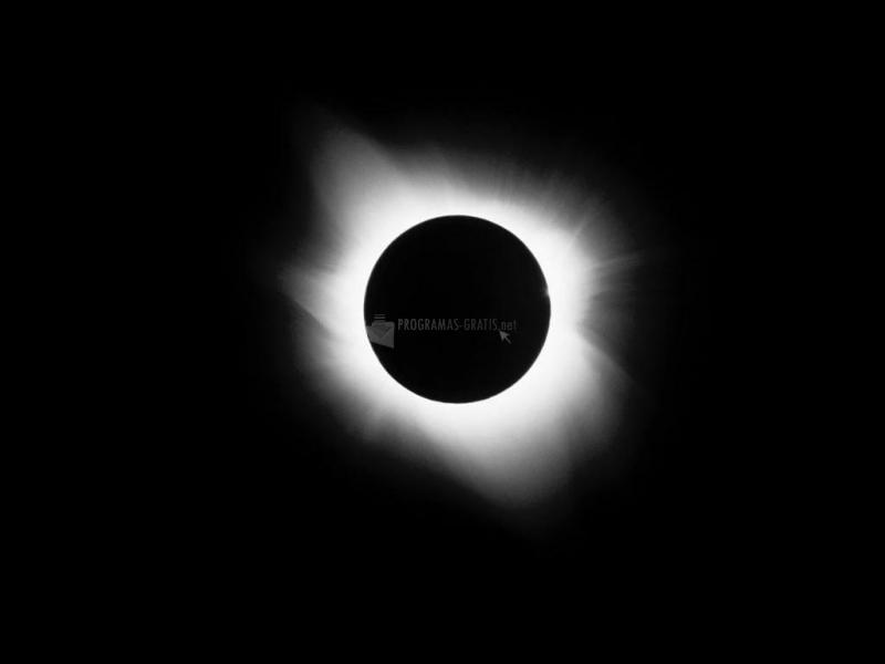 Pantallazo Fondo de Pantalla Eclipse Solar
