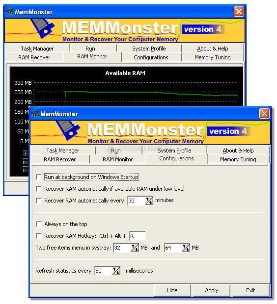 Pantallazo MemMonster