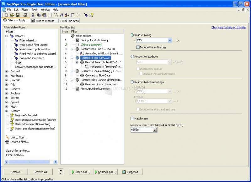 Pantallazo TextPipe Pro
