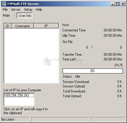 typsoft ftp server 1.10