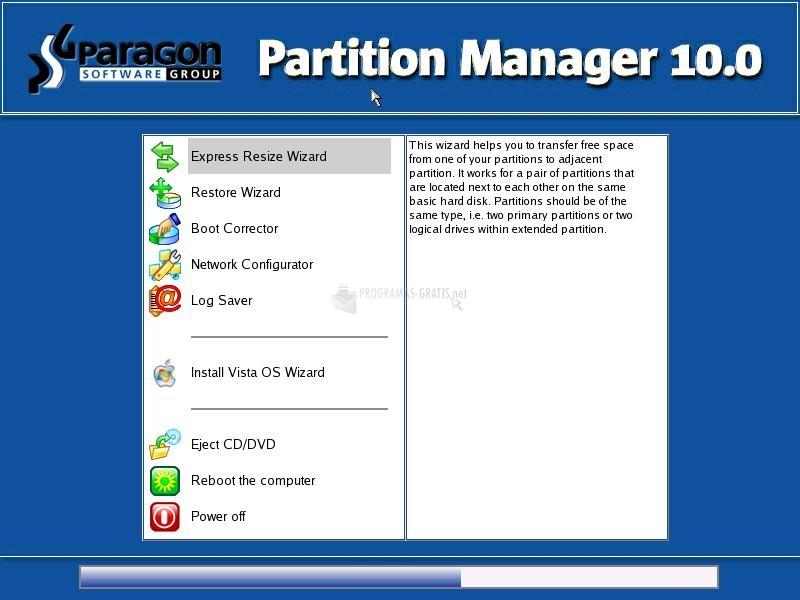 Fotografía Paragon Partition Manager