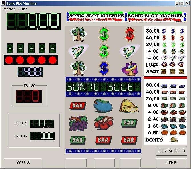 Pantallazo Sonic Slot Machine