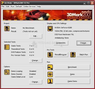 Pantallazo 3DMark 2001 SE Free Version