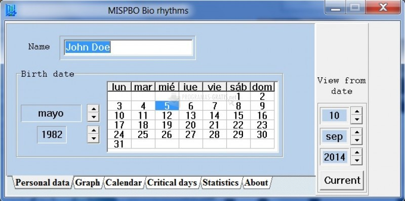 Pantallazo MISPBO Biorhythms